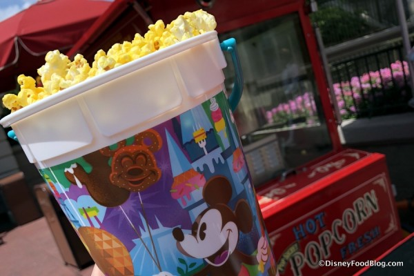 Iconic Disney Snacks Are Popping Up All Over Disney World's Newest Refillable Popcorn Bucket!