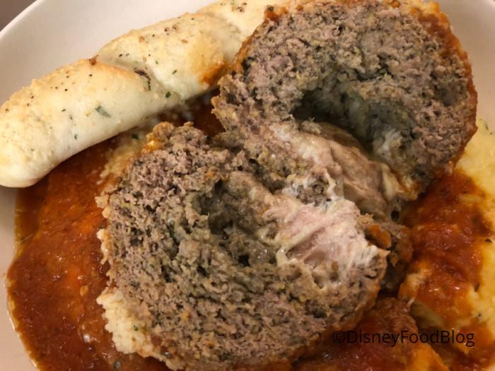 Inside the Stuffed Meatball