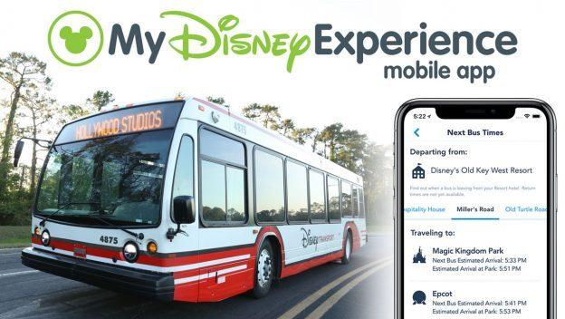 My Disney Experience Bus Times ©Disney
