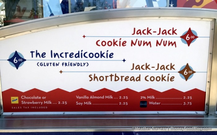 Jack-Jack Cookie Num Nums Menu