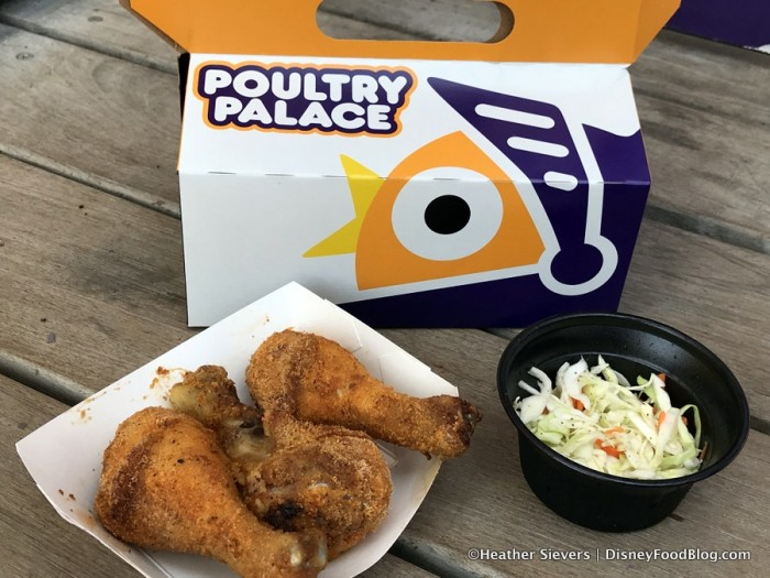 Poultry Palace Chicken Drumsticks Box with coleslaw