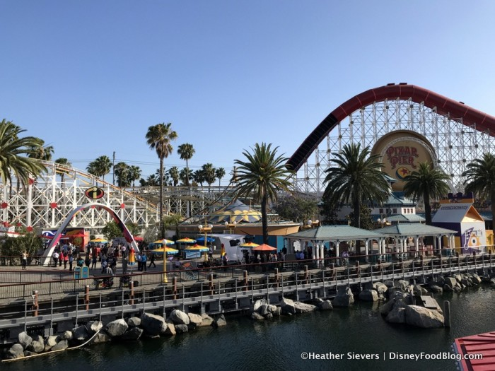 Views of Pixar Pier from Lamplight Lounge