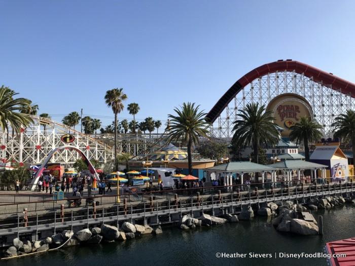 Views of Pixar Pier from Lamplight Lounge