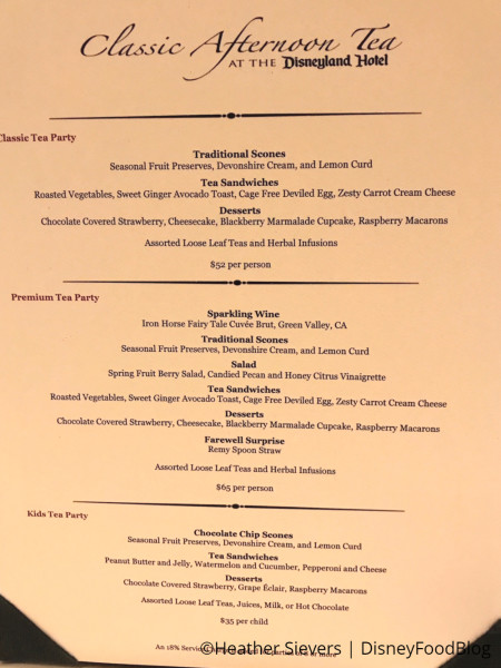 Pixar Fest Afternoon Fest Menu