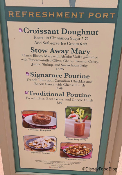 Refreshment Port Menu, June 2018