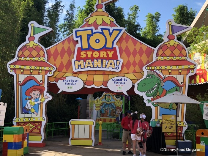 Toy Story Mania new entrance