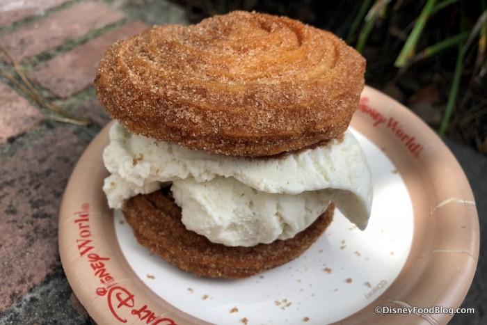 Vanilla Ice Cream Churro Sandwich