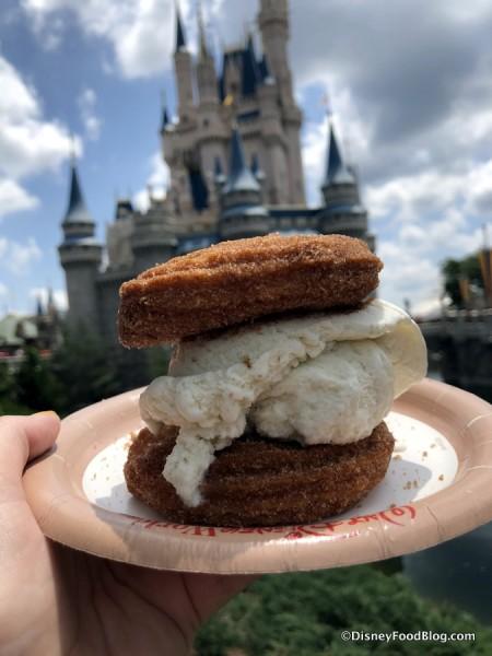 Vanilla Churro Ice Cream Sandwich... still in tact!