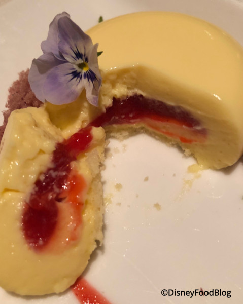 Interior of Lemon-Strawberry Cremeux