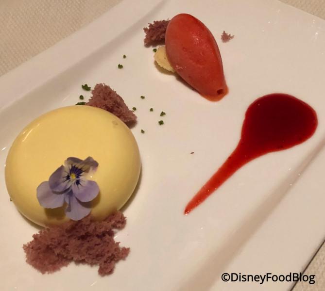 Lemon-Strawberry Cremeux