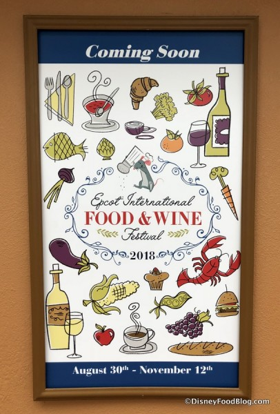 Epcot's 2018 International Food and Wine Festival