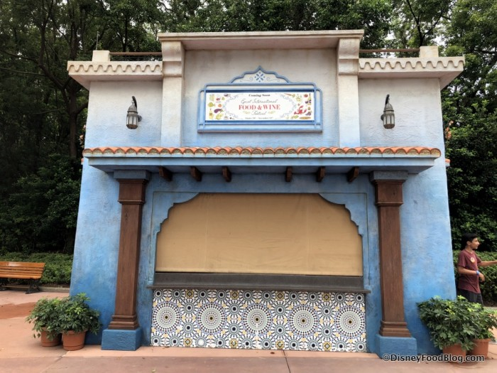 2018 Epcot Food and Wine Festival: Morocco Booth