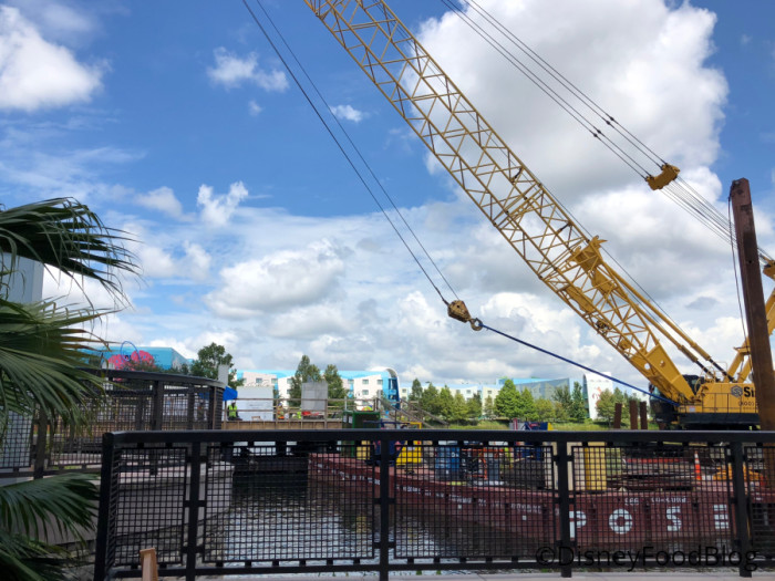 Skyliner construction on Hourglass Lake