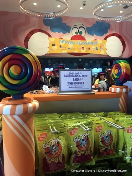 Goofy's Candy Company display