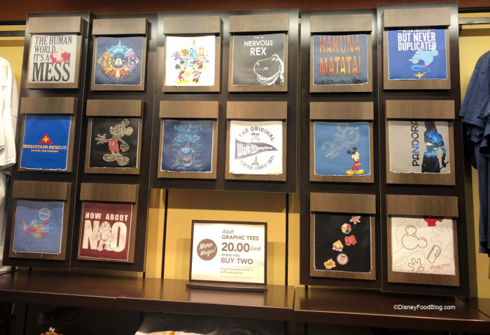 Disney Outfitters New t-Shirt Display Wall