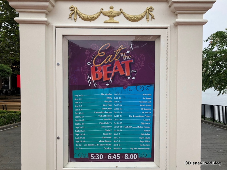 Epcot Wine And Food Festival  Schedule