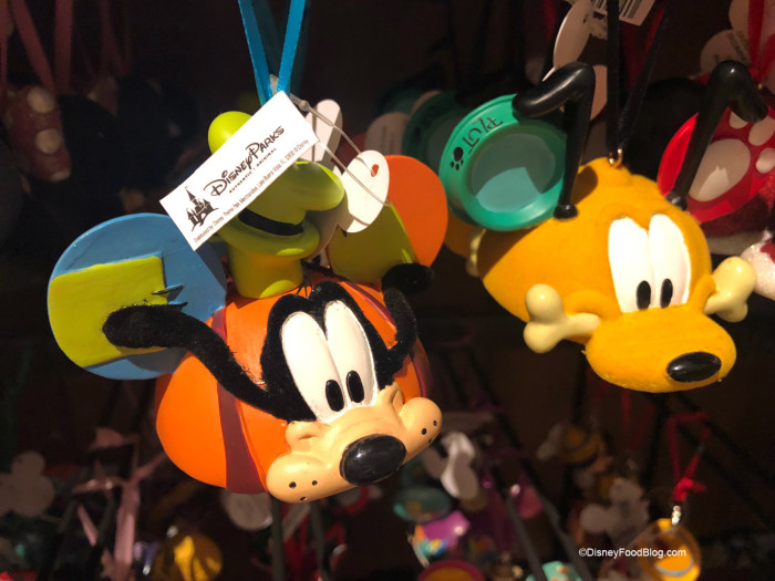 Goofy and Pluto Ornaments