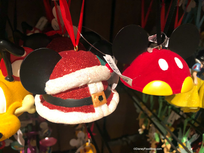 Santa and Mickey Ornaments