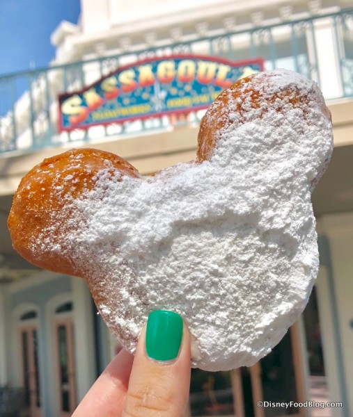 Mickey-Shaped Beignet at Port Orleans