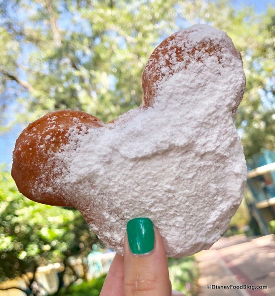 Mickey-Shaped Beignet in Disney World!