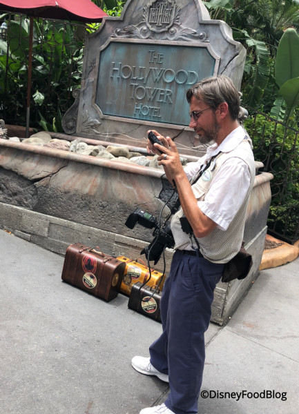 Photopass set up at Tower of Terror