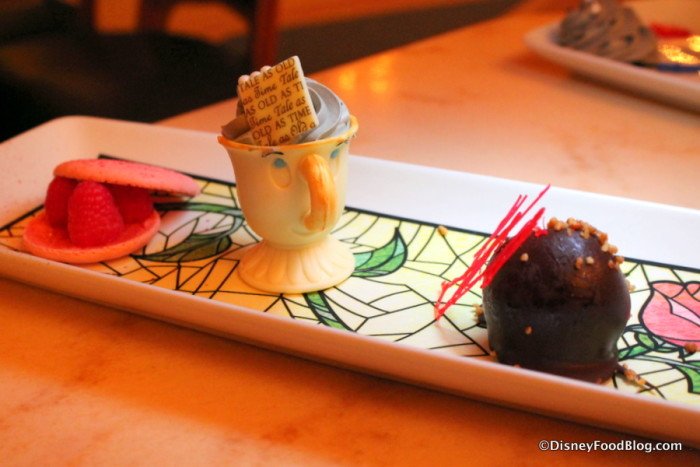 Dessert Trio at the new Prix Fixe Dinner at Be Our Guest Restaurant