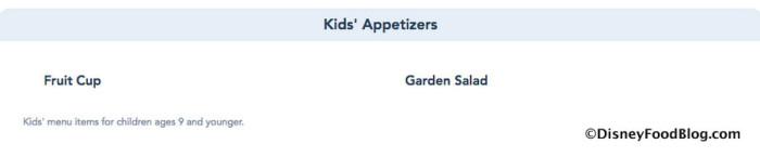 Kids' Appetizers