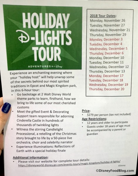 Holiday D-Lights Tour