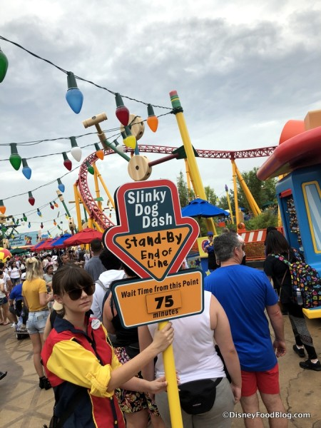 Slinky Dog Dash Wait Time during our Breakfast