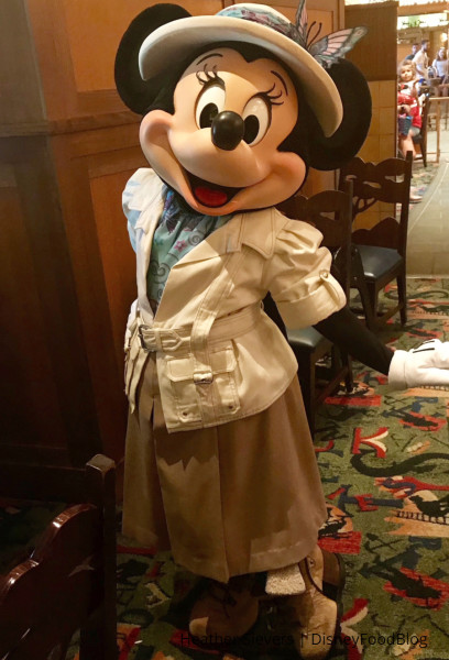 Minnie Mouse in her adventure gear!