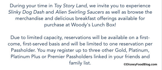 Annual Passholder email screenshot