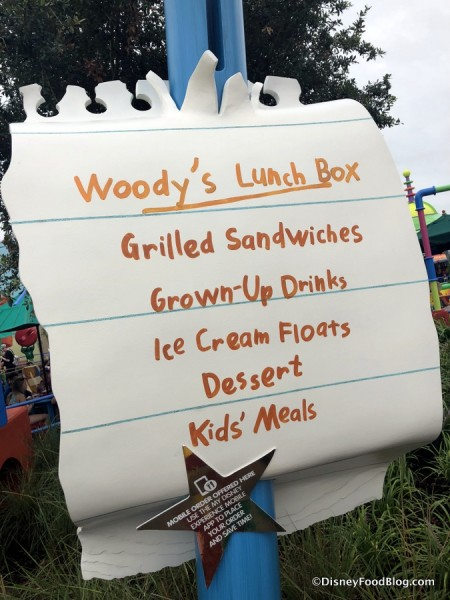 Woody's Lunch Box sign