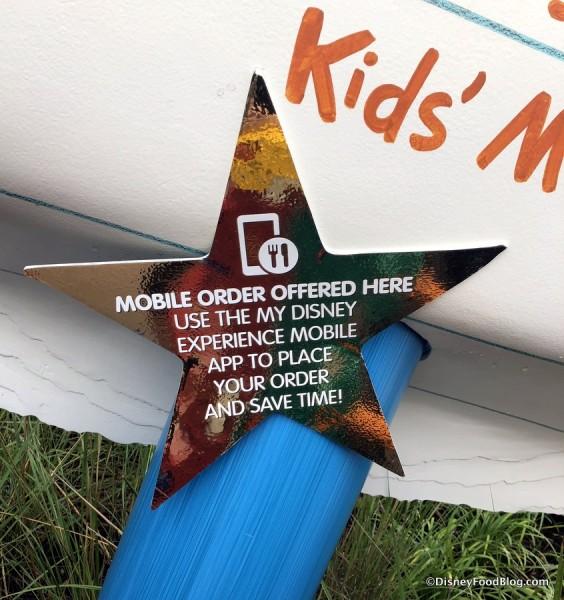 Mobile Order sign