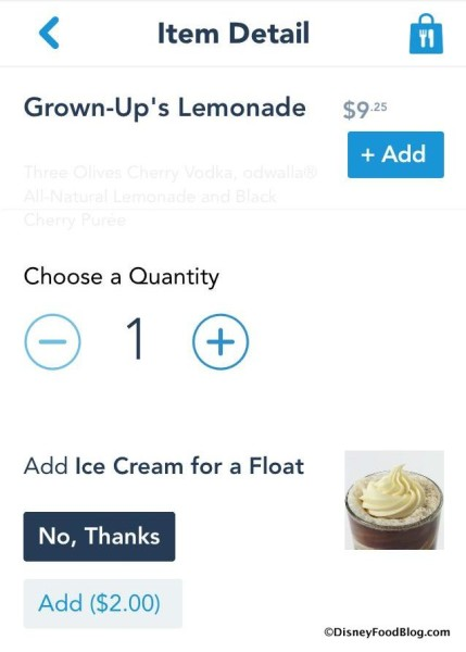 Add Ice Cream for a Float on Mobile Order!