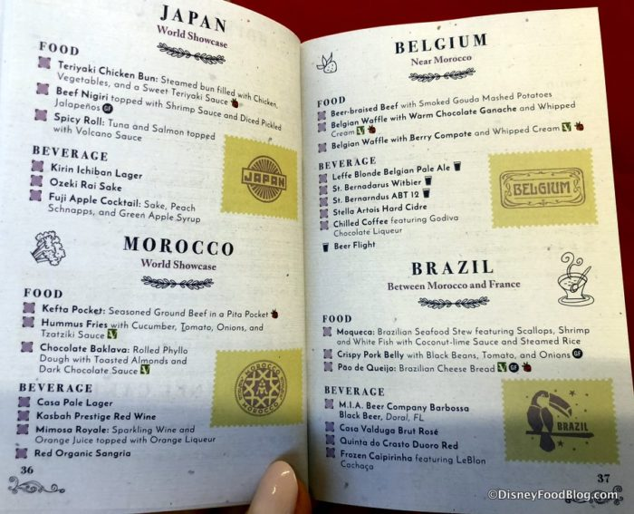 Epcot Food And Wine Festival Menu Cost