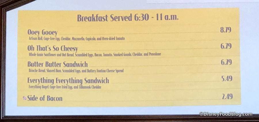 NEW Breakfast Sandwiches on Disney World's BoardWalk: Butter