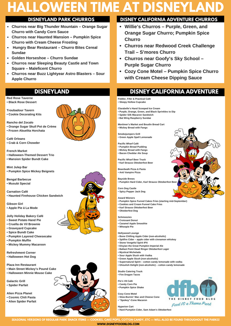 get the dfb printable halloween snack checklist for halloween time