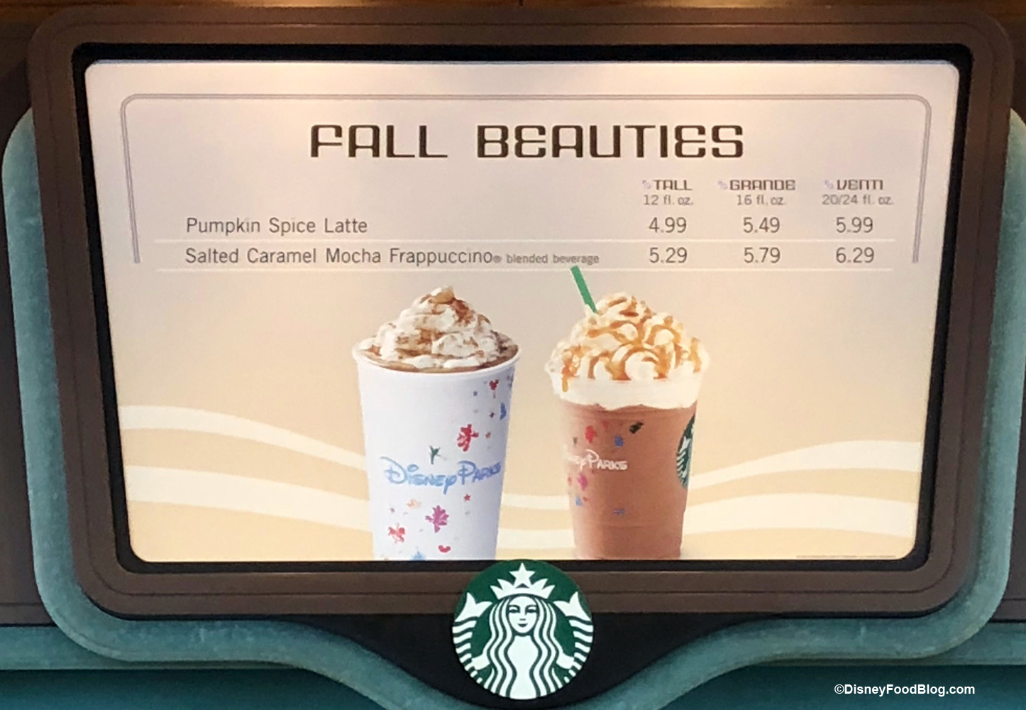 dfe00aa61780 We could choose from some of the Fall Drinks we ve seen in all the  Starbucks locations in the parks – Pumpkin Spice Latte and Salted Caramel  Mocha ...