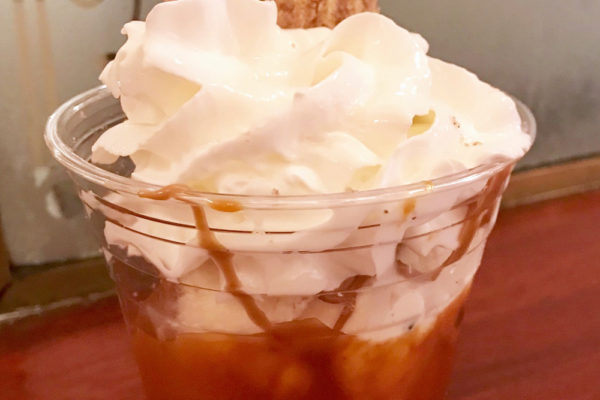Disneyland is Serving Up a Churro Sundae With Cookie Butter Sauce for Halloween Time!