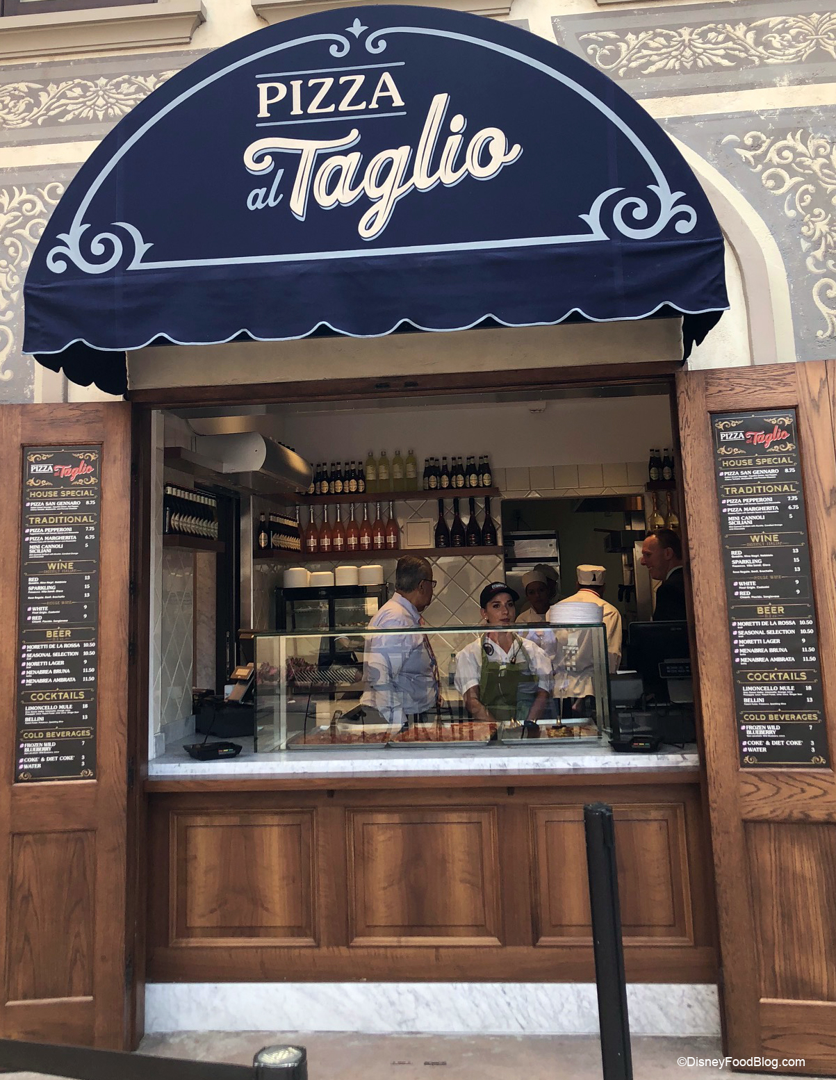 Pizza Al Taglio Counter Service Window Now Open In Epcot S