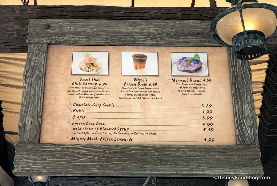 New Snacks Are Brewing Up At Prince Eric S Village Market In Magic Kingdom The Disney Food Blog