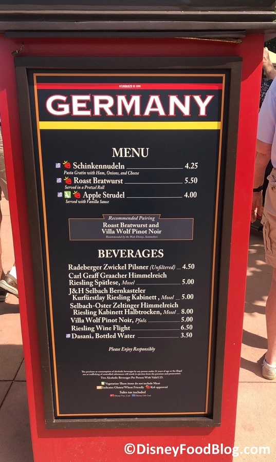 germany 2018 epcot food and wine festival the disney food blog. Black Bedroom Furniture Sets. Home Design Ideas