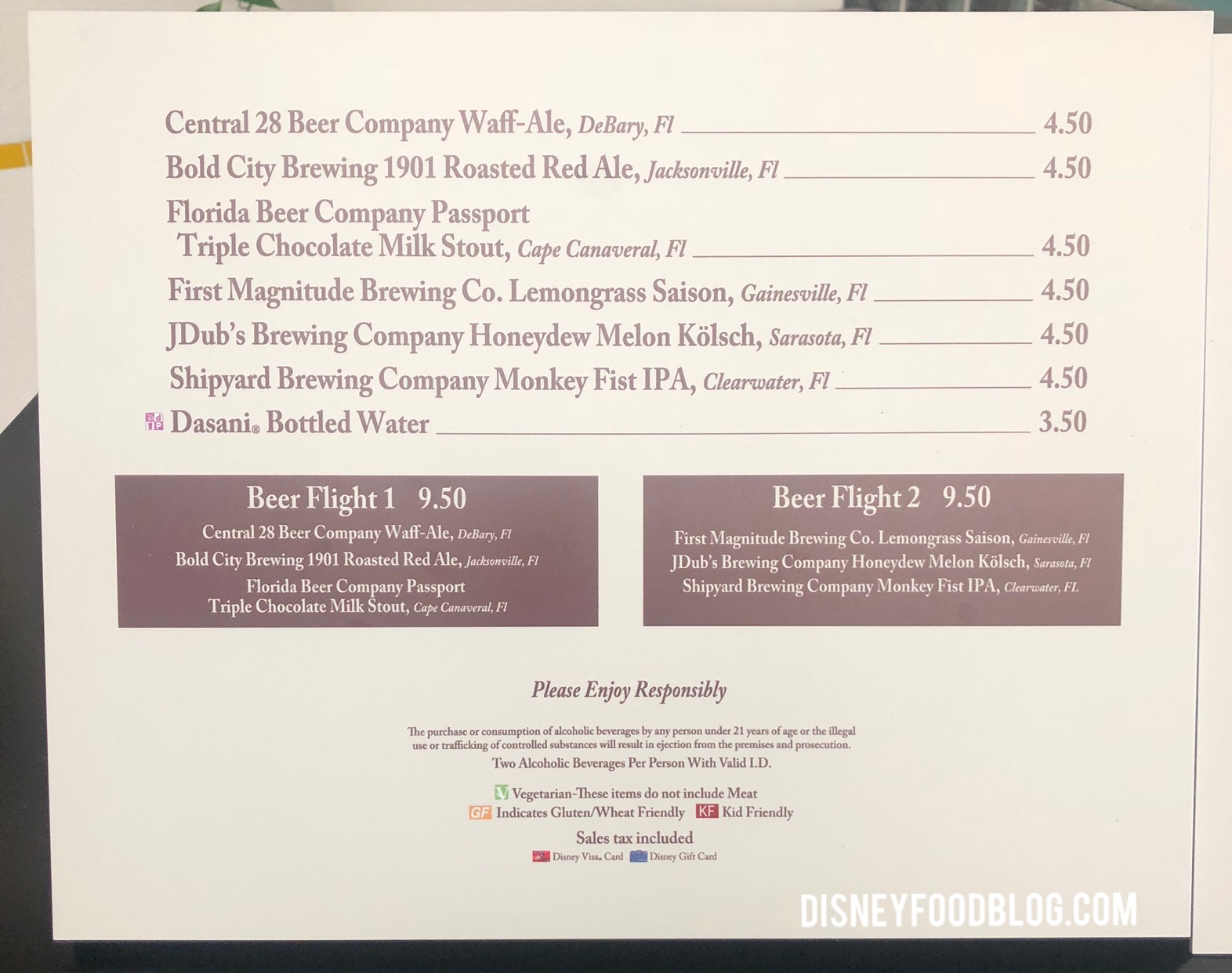 News: Prices Increased on Epcot Food and Wine Festival Menu