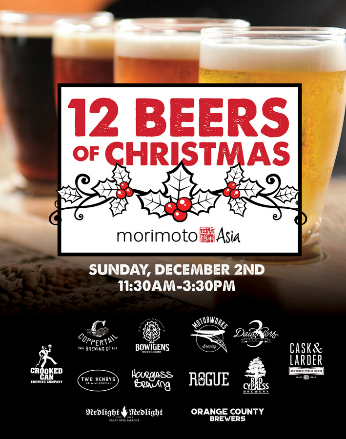 """Chef Morimoto to Host the """"12 Beers of Christmas"""" at Morimoto Asia in Disney Springs"""