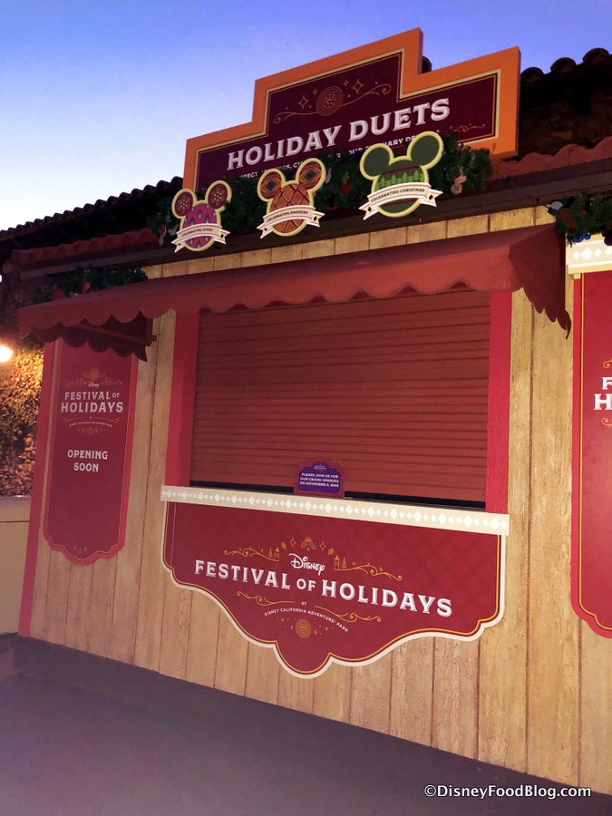 Sneak Peek: Booths Are Up for Disneyland's Festival of
