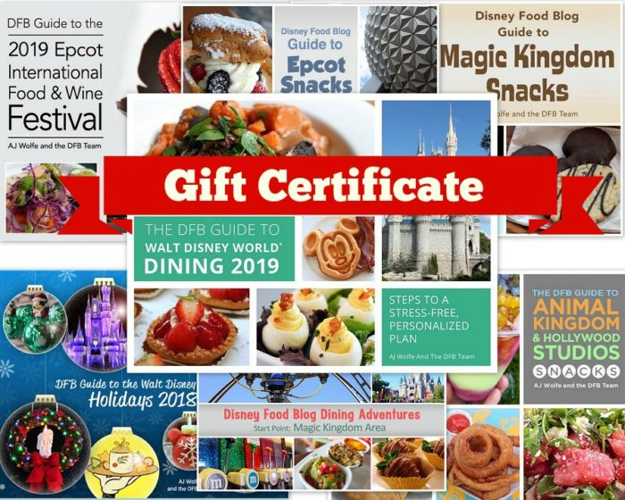And right now the Everything Bundle (and Gift Certificate) includes a pre-order of the 2019 DFB Guide to Walt Disney World Dining and a pre-order for the ...