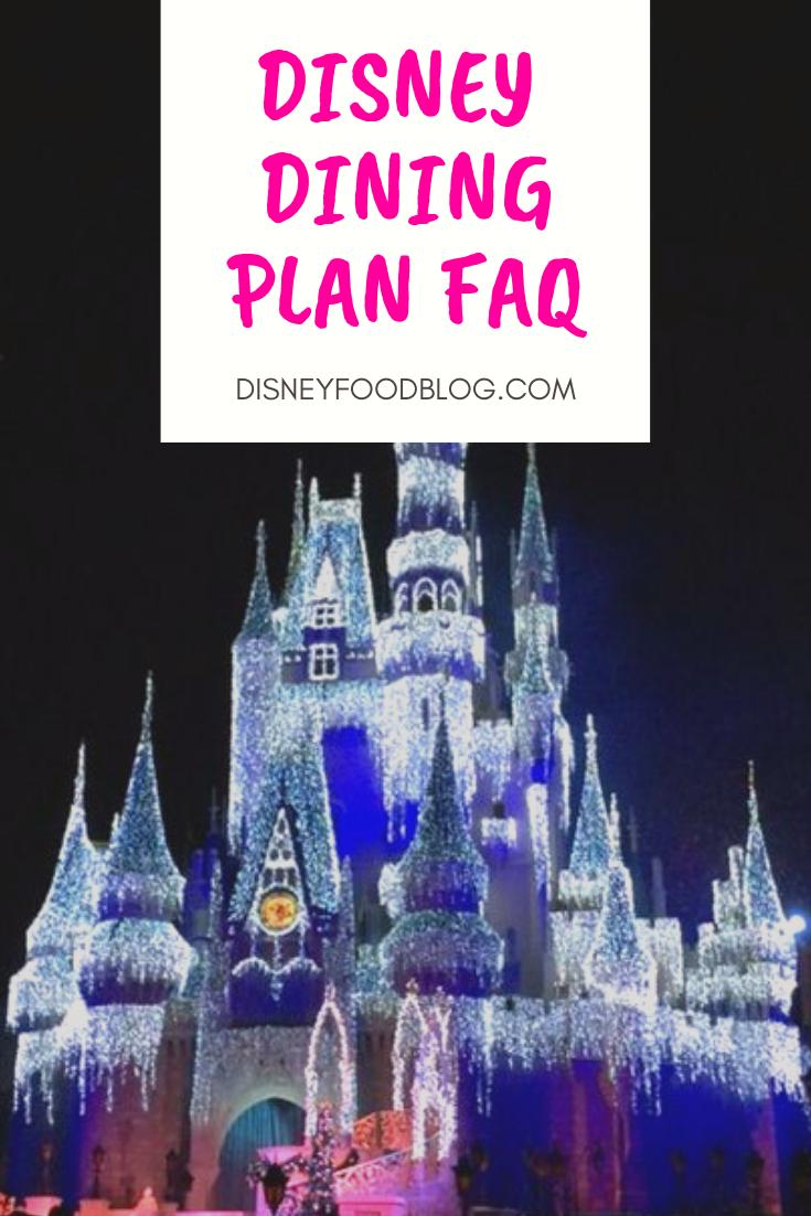 Disney Dining Plan FAQ