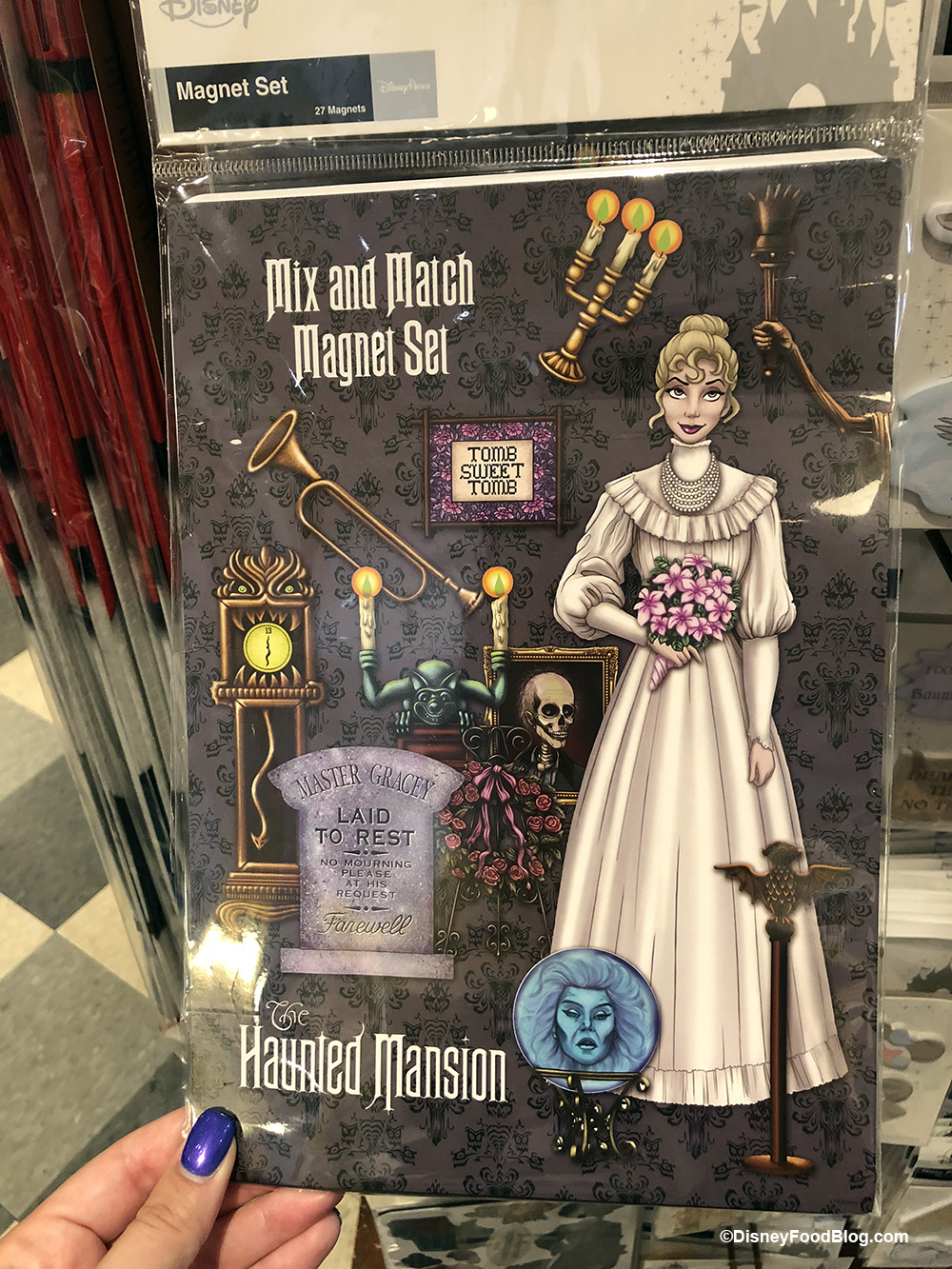 New Haunted Mansion And Disney Food Magnets And Notepads