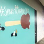 Magic Kingdom's Purple Wall Has a New Neighbor: The #ShareYourEars Wall!