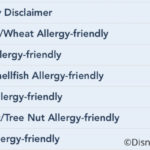 Disney Restaurant Allergy-Specific Menus Now Available on DisneyWorld.com and Disneyland.com For Some Locations!